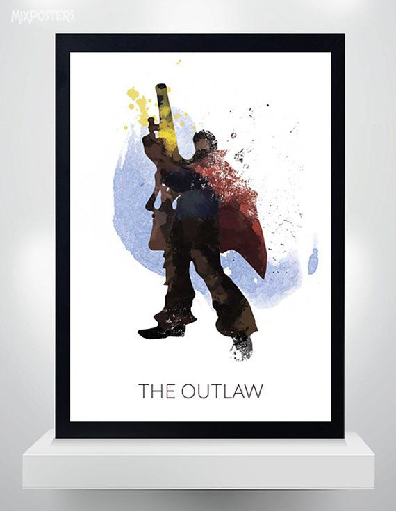 Graves poster Watercolor Print League of Legends by MixPosters