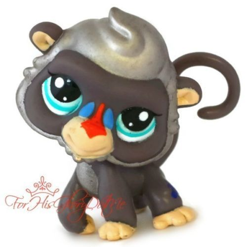 LPs Special Edition Pets | Pet Shop LPS 2309 GRAY SILVER MONKEY BABOON SPECIAL EDITION ...