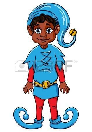 elf?s: Ayudante duende de Santa s, traje de uniforme azul Vectores