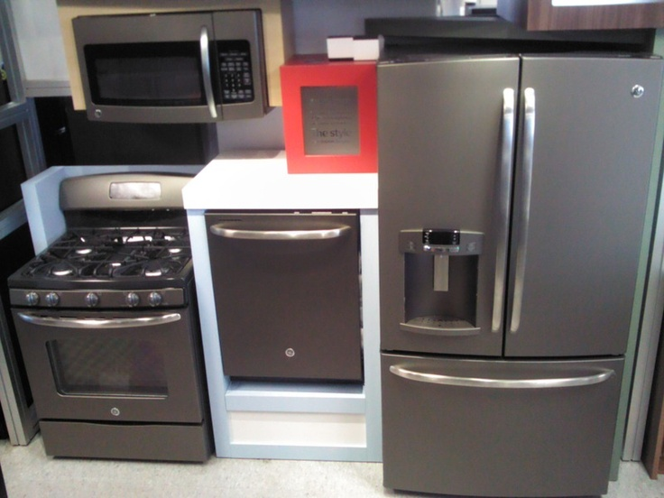 this is a kitchen 4 piece set of ge slate colored appliances  ge sent us the display that the appliances are in to show off how versatile the color is  18 best ge slate colored appliances images on pinterest   cooking      rh   pinterest com