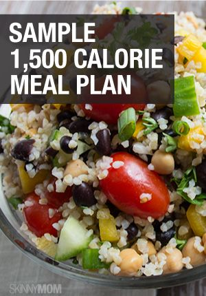Great sample meal plan for you that is 1500 calories.
