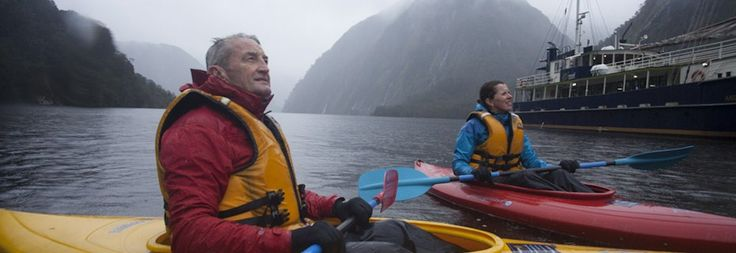 Enjoying Kayaking in Fiordland