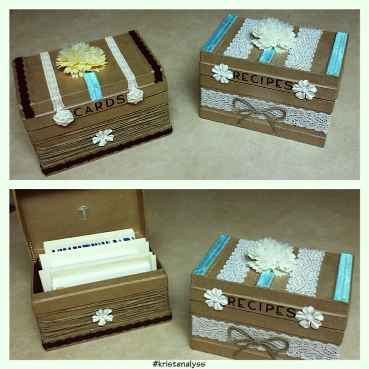 Diy Recipe Card Storage Bo Plain Cardboard Box And All Decorations Found On Clearance