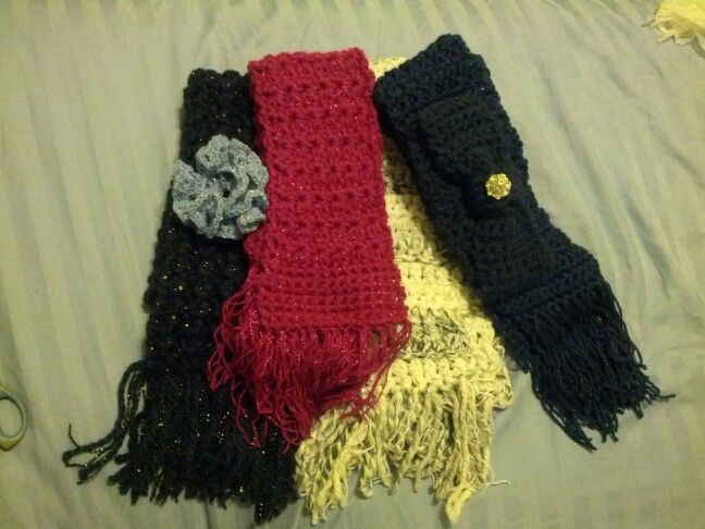 Scarves completed