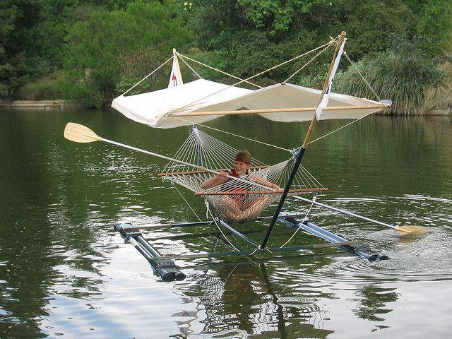 Hammock BoatWater, Ideas, Paddles, Lakes House, Kayaks, Redneck, Hammocks Boats, Rivers, Canoes