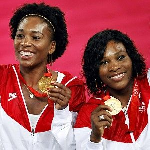 Article: Serena on a Quest for Gold.  Photo: Venus and Serena Williams, Beijing Olympics.