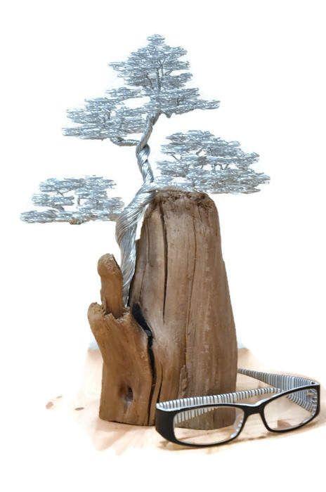 Bonsai wire tree | Wire tree sculpture | Wire tree | Tree sculpture | Driftwood sculpture | Metal sculpture | Driftwood art | Home decor