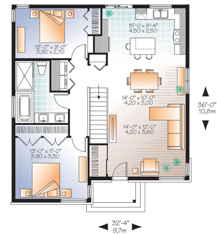 modern ranch floor plans - 735×792