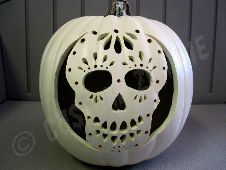 Pumpkin Stencil - Sugar Skull - Carving, Crafts