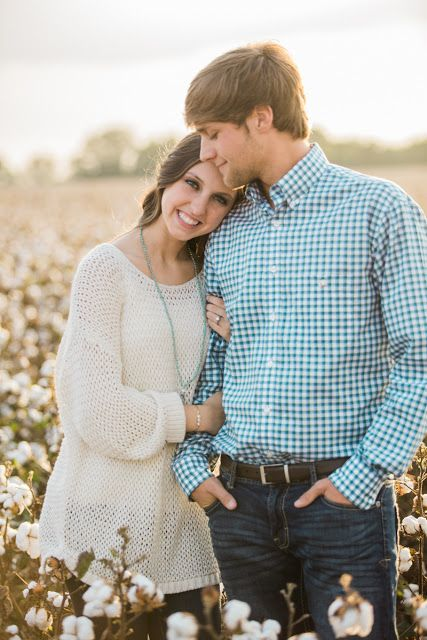 Woody & Pearl Photography: Abby & John Austin - Cotton Field Engagement Session