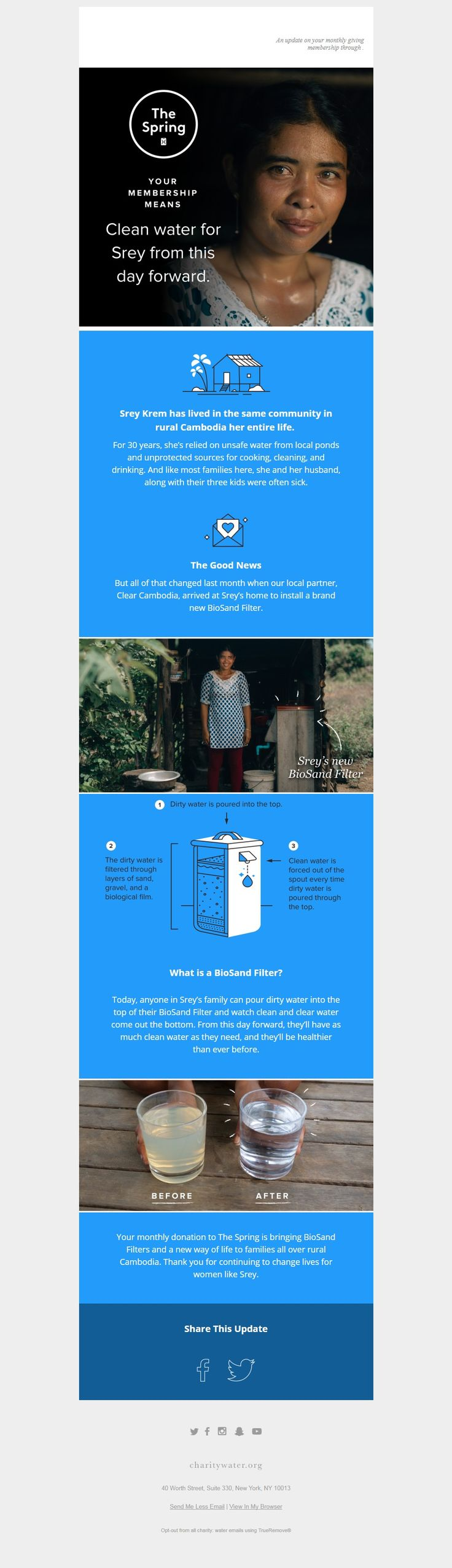 charity: water: A new way of life for Srey.