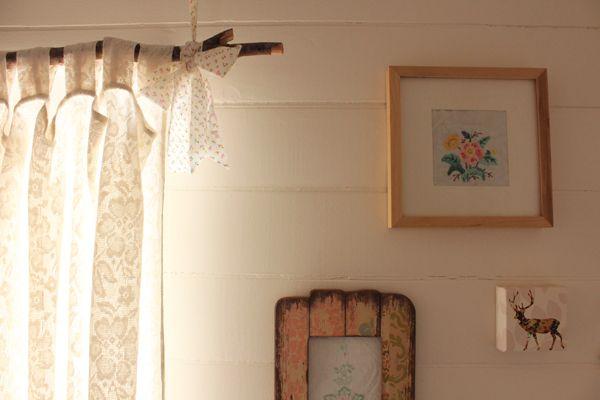 Cool idea for curtain rod.