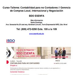 Curso-Talleres: Contabilidad para no Contadores / Gerencia de Compras  - Publicidad