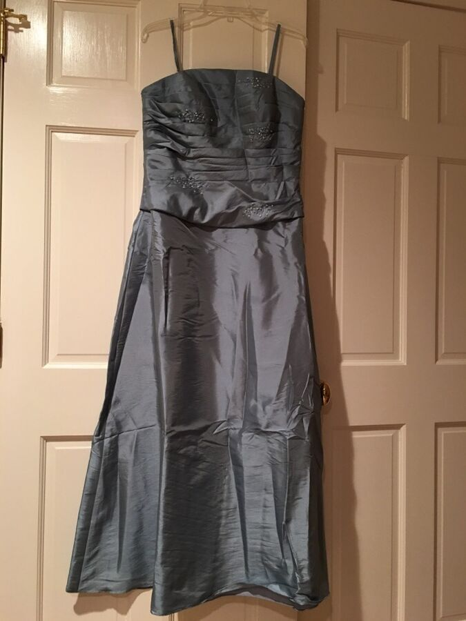 e3d22efff59 Bella Formal Mother Of The Bride Dress By Venus Size 16 Blue  Strapless Bolero
