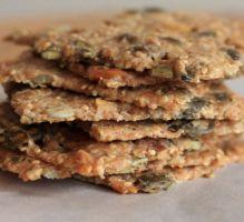 Recette - Knækbrød ou crackers danois aux graines - possibilité de remplacer une partie de l'huile par du fromage râpé