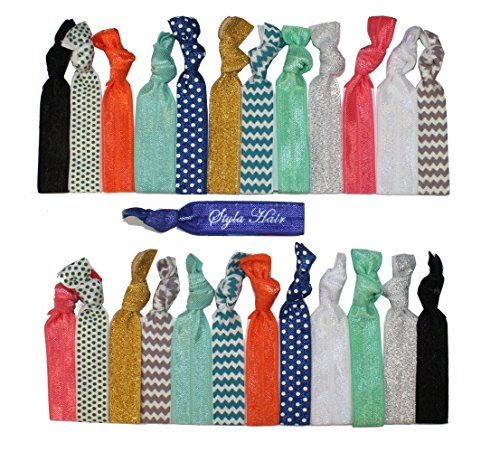 Premium No Crease Ribbon Hair Ties - No Damage or Tug Creaseless Elastic Ponytail Holders - Hairbands Hair Accessories By Styla Hair™ (25-pack Exactly As Pictured) Styla Hair http://www.amazon.com/dp/B017LNP3ZK/ref=cm_sw_r_pi_dp_nGl5wb05DETRP