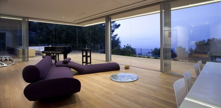 private music room with a great view - LAM House by arstudio
