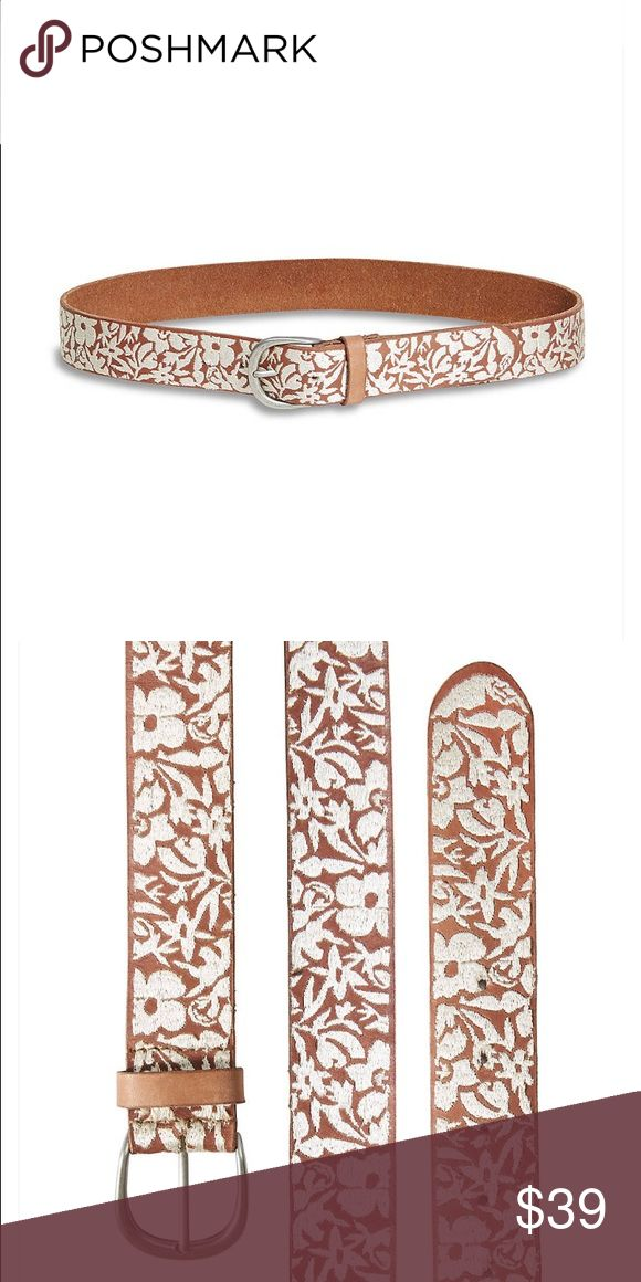 NWT Brown Lucky Brand belt, size M Pretty brown belt with embroidery. Lucky Brand Accessories Belts