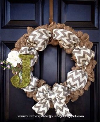 burlap and chevron, love