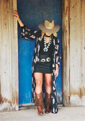 9fa7d1cd70 Bota Texana Feminina: 25 Ideias Incríveis de Looks para Arrasar ...