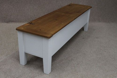 French Farmhouse School Bench Hall Bench With Storage Settle Pew 6ft