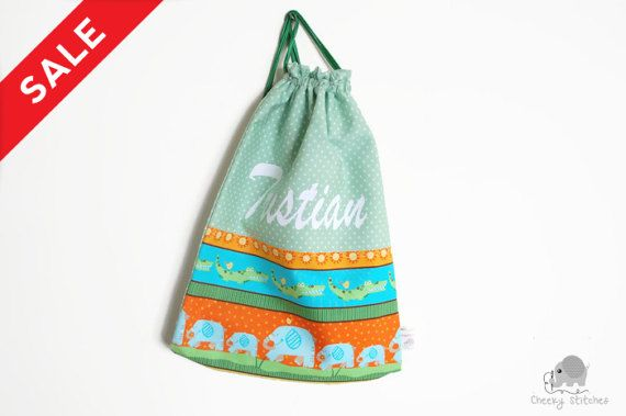 Boys backpack with name kindergarten bag name by CheekyStitches