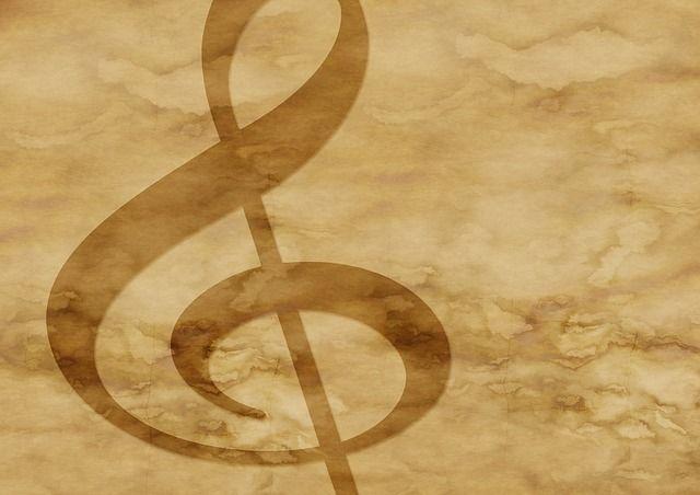 Papier, Pergamin, Klucz Wiolinowy, Muzyka, Plamy, Stary