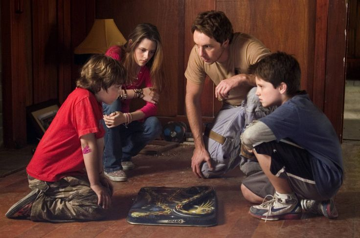 "Kristen Stewart, Dex Shepard, Josh Hutcherson, and Jonah Bobo portray the characters of Lisa, the astronaut/older Walter, Walter, and Danny respectively in the movie ""Zathura""........"