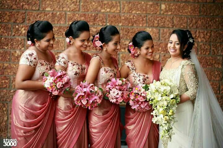 Sri Lankan Bridesmaids Bridesmaids Pinterest Saree