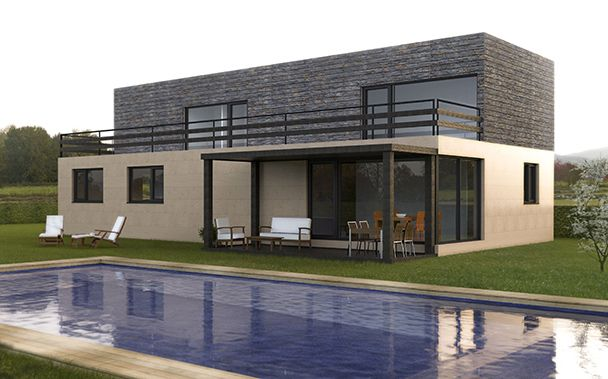 10 best modelos est ndar de casas prefabricadas casas cube images on pinterest cubes - Casas prefabricadas cube ...