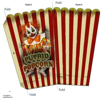 Popcorn Box Front These are some box templates i made please feel free to use them as you wish TWISTED ENDEAVOURS