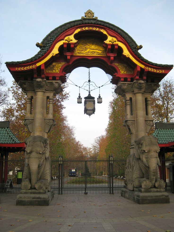 Elephant Gate at the Berlin Zoological Garden.