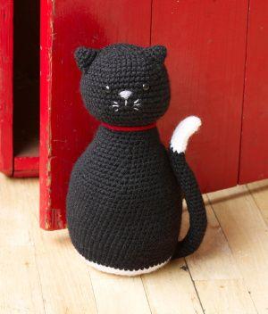 Amigurumi Black Cat Door Stopper