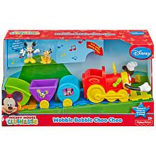 Fisher-Price Mickey Mouse World of Cha Cha Choo Choo Train Noah could not put this down at the store!! His favorite episode so far is Mickey Mouse clubhouse choo choo express so you can imagine how much he loved the toy!