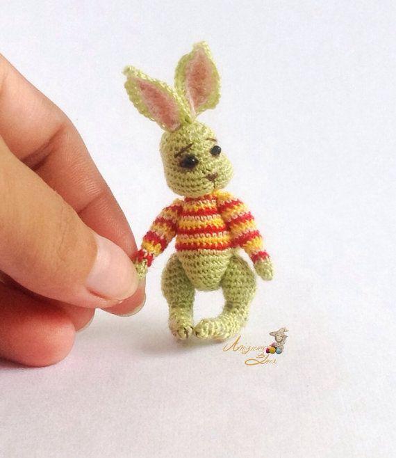 Miniature Rabbit Doll Amigurumi Crochet Rabbit by ...