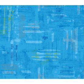 IMPERIAL Blue Peelable Vinyl Prepasted Classic Wallpaper