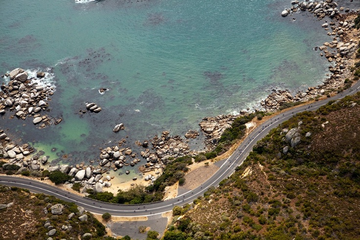 The picturesque ocean that surrounds the Cycle Tour route