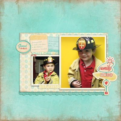 Digital scrapbook layout by designer Joscelyne Cutchins featuring the Retro Road Trip digital kit by Samantha Walker available at www.snapclicksupply.com #digitalscrapbooking #snapclicksupply