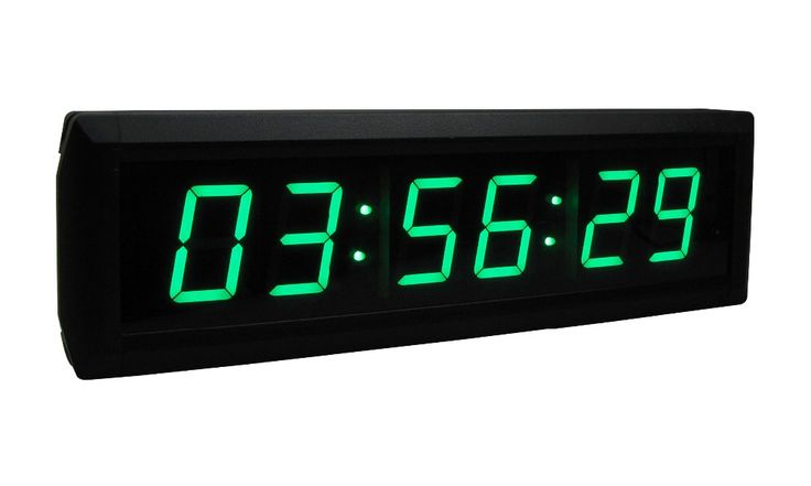 """[GANXIN] 1.8""""  Green Portable Digital Countdown Timer Clock Large LED Screen Alarm for office With Remote"""