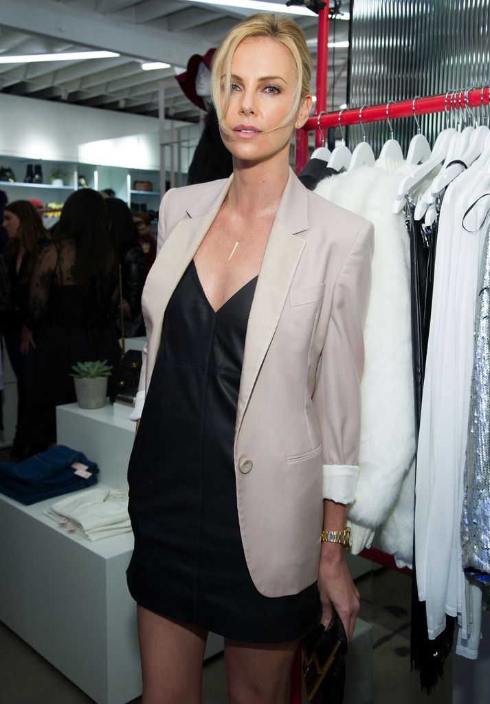 Charlize Theron   - Nasty Gal Melrose Store Launch
