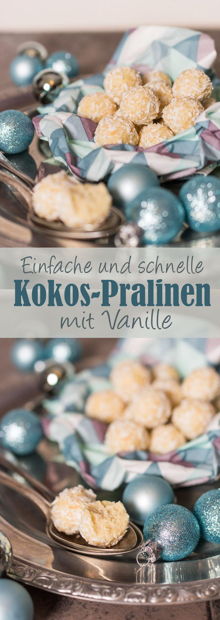 Einfache Kokos-Vanille-Pralinen /// Quick and easy vanilla truffles
