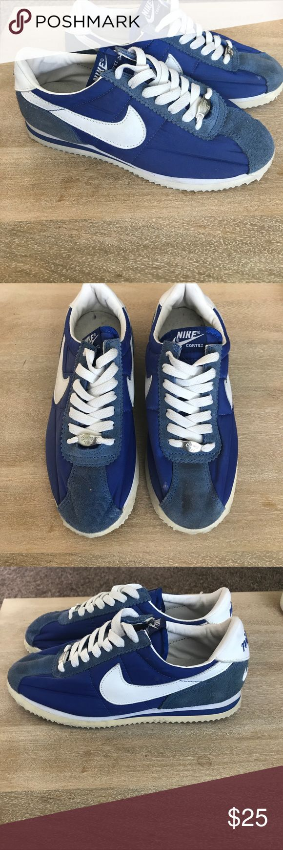 Nike Cortez shoes Royal blue Nike Cortez women's shoes. Used. Only worn a few times. Been in storage for years. Nike Shoes Athletic Shoes