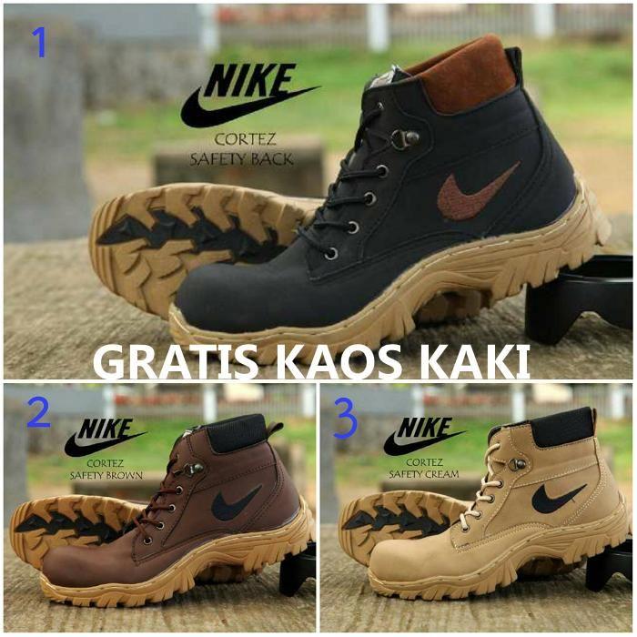 Promo Sepatu Tracking Boot Safety Nike Gunung Hiking Adventure