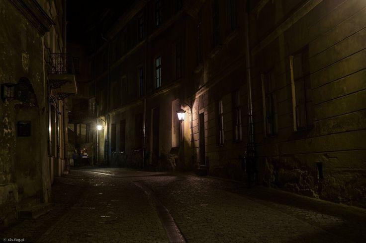 Lublin nocą - ul.Rybna