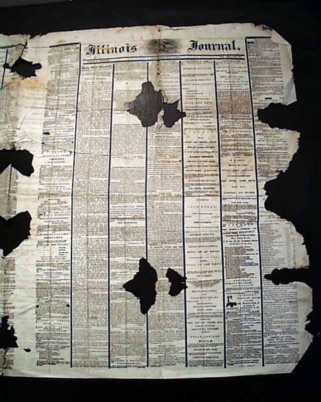 Best ABRAHAM LINCOLN Springfield Illinois Funeral BURIAL 1865 Hometown Newspaper
