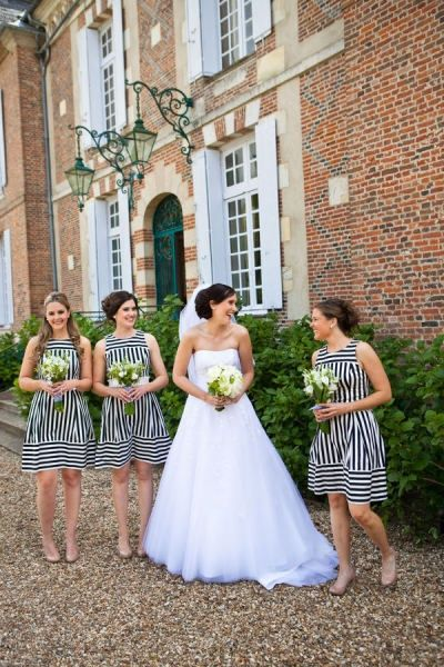 Bridesmaid stripes, not for me, but different and fun.