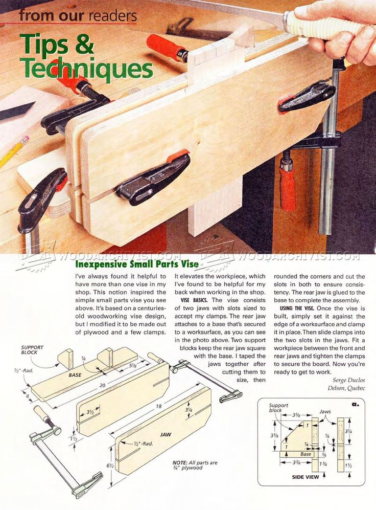 DIY Small Parts Vise - Workshop Solutions Projects, Tips and Tricks | WoodArchivist.com