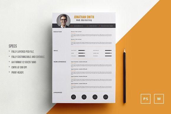 Resume In 2020 Resume Design Template Creative Resume Templates Resume Templates