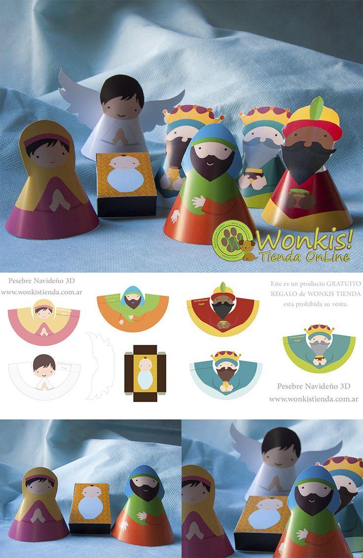 Pesebre 3D para armar - Descargalo GRATIS! #navidad #nacimiento #jesus http://www.wonkis.com.ar/2013/12/pesebre-3d-gratis/