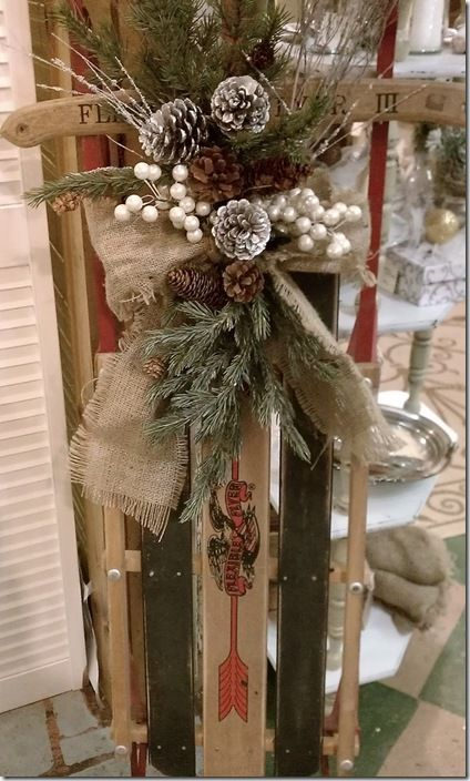 1000+ images about Snow Sled Decor on Pinterest : Sled, Christmas Sled and Snow Sled